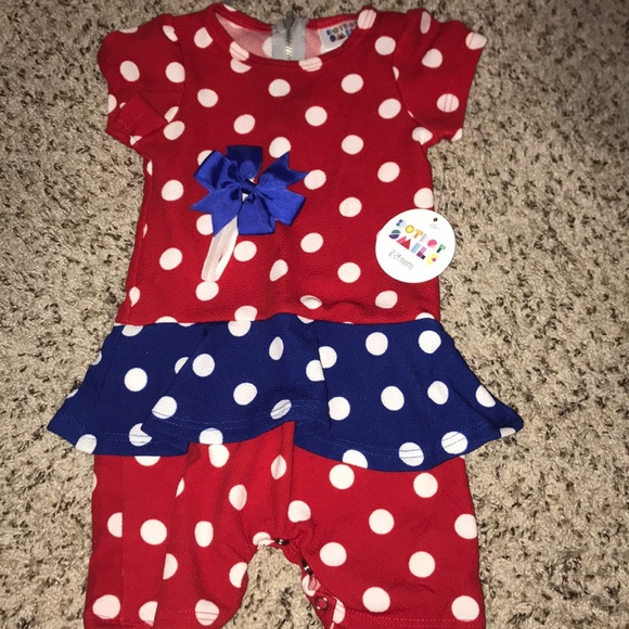 46b145aa4f93 Dot Dot Smile Romper and Matching Hair Band Bow Boutique